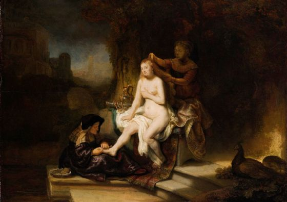 Rembrandt: The Toilet of Bathsheba. Fine Art Print/Poster. Sizes: A4/A3/A2/A1 (004305)